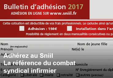 Bulletin d'inscription au Sniil